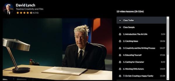 David Lynch MasterClass overview
