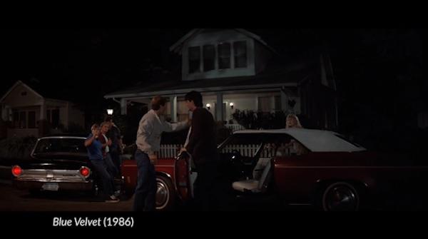 Scene from the movie Blue Velvet