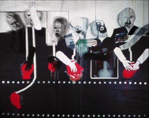 A scene from David Lynch's Six Men Getting Sick