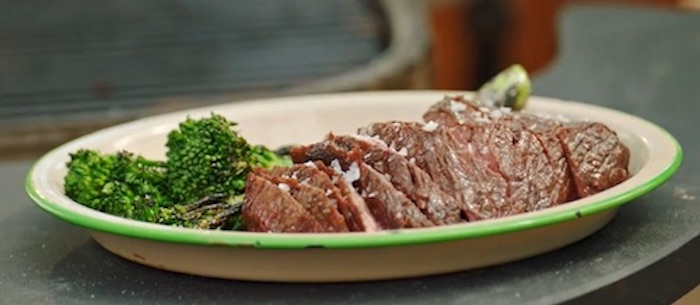 Grill Steak and Broccolini