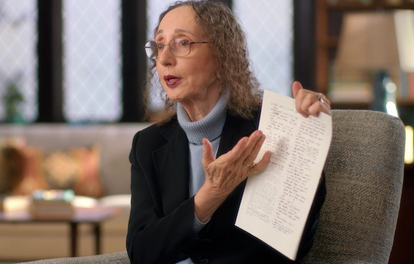 Joyce Carol Oates teaching