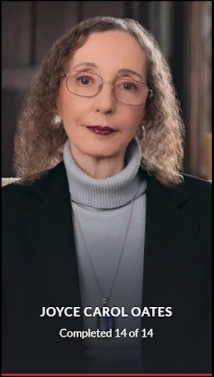 Joyce Carol Oates MasterClass complete