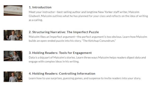 Lesson plan for Malcolm Gladwell's MasterClass