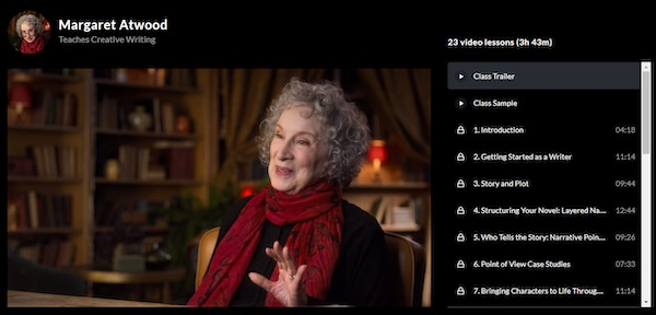 Margaret Atwood MasterClass overview