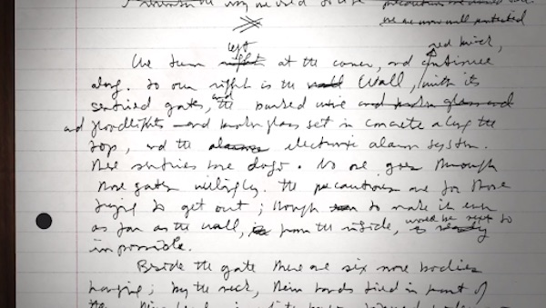 Excerpt from Margaret Atwood's manuscript