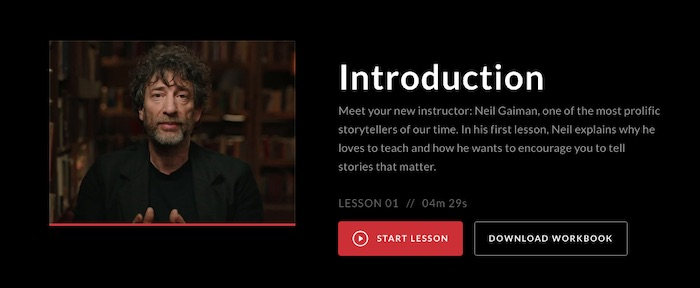 Neil Gaiman's MasterClass introduction