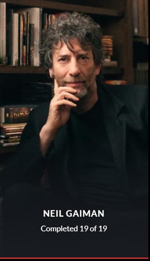 Neil Gaiman MasterClass completed