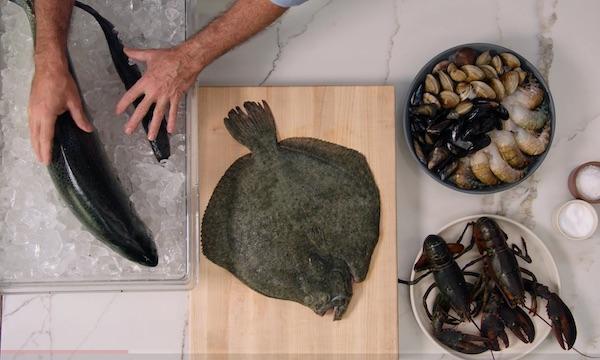 Keller cooks fish
