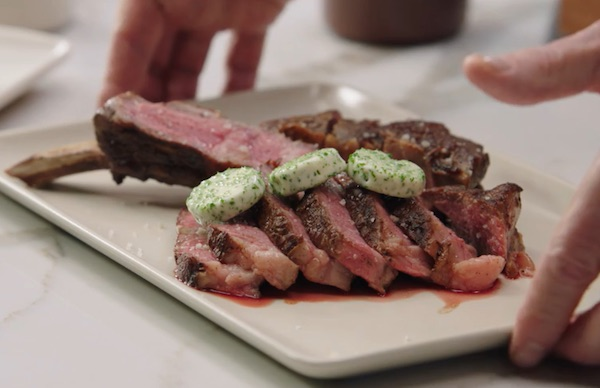A meat dish cooked by Thomas Keller