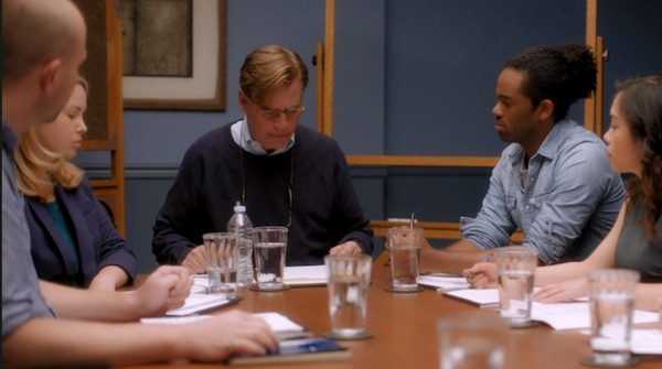 Aaron Sorkin running a group session on MasterClass
