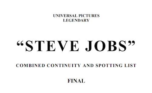 Aaron Sorkin's Steve Jobs script