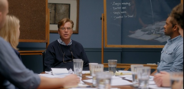 A group session in Aaron Sorkin's MasterClass