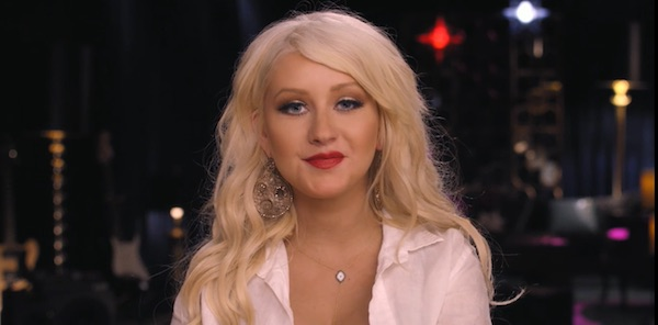 Christina Aguilera teaching