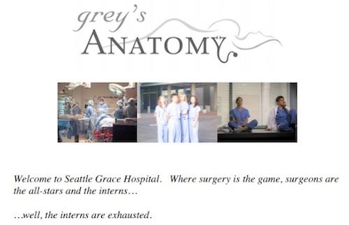 Grey's anatomy case study