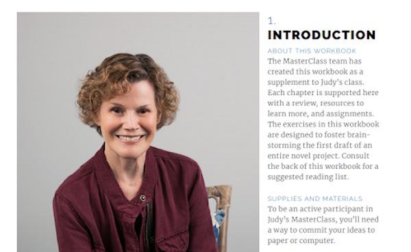 Judy Blume's workbook