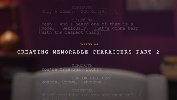 Less on creating memorable characters