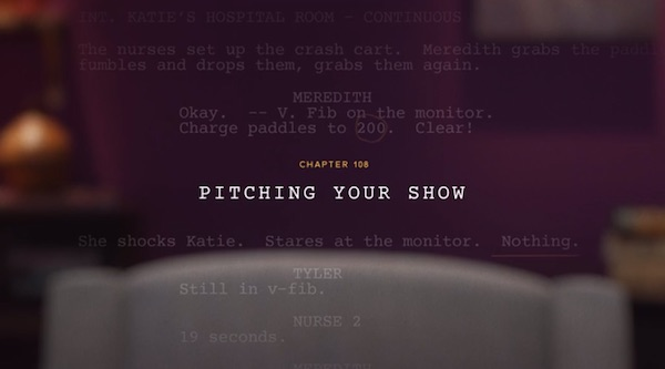 Lesson on pitching your show