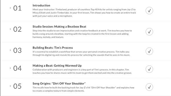 Timbaland MasterClass lesson plan