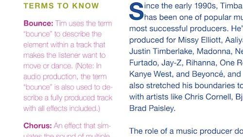 Timbaland MasterClass workbook