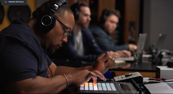 Timbaland making a beat in his MasterClass