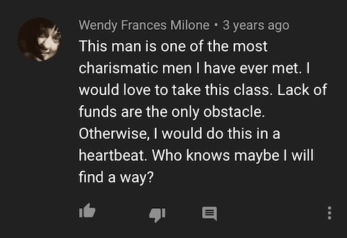 A review comment on Werner Herzog's MasterClass