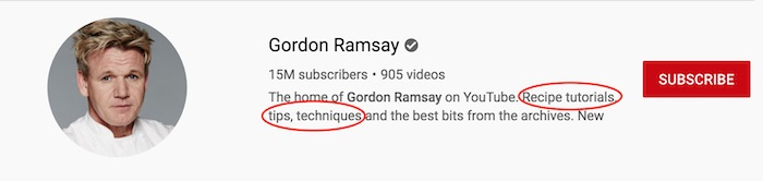 Gordon Ramsay's YouTube