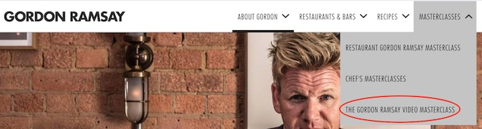 Gordon Ramsay's website