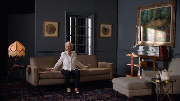 Helen Mirren on set and props