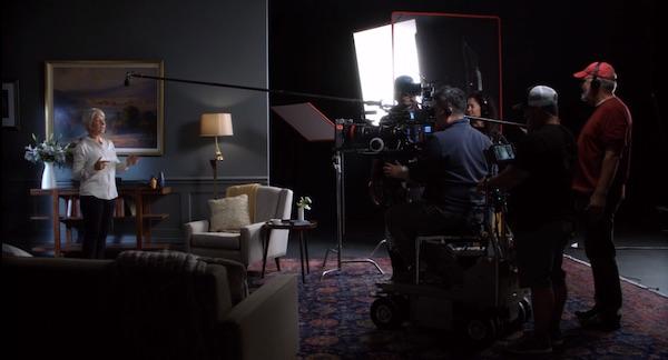 Helen Mirren on set