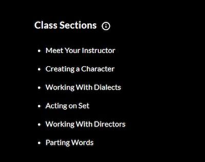 MasterClass lesson plan