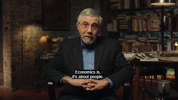 Paul Krugman explaining that economics is about people