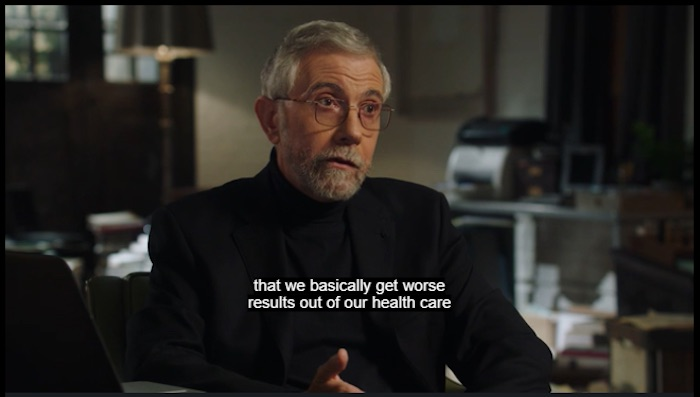 Paul Krugman talking about health care in his MasterClass