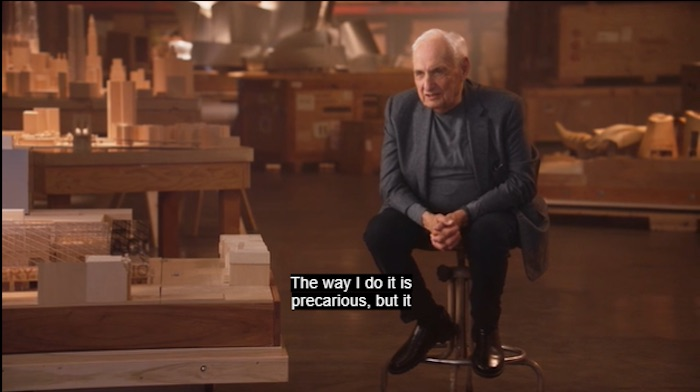 Frank Gehry in his MasterClass