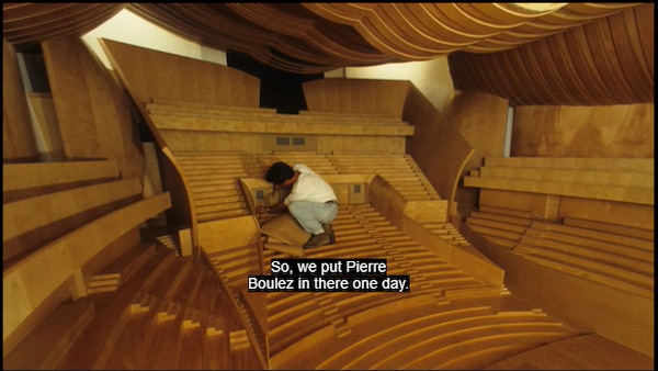 Frank Gehry on the acoustics of the Disney concert hall