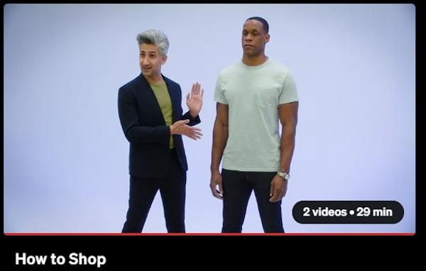 Tan France explaining how they shop