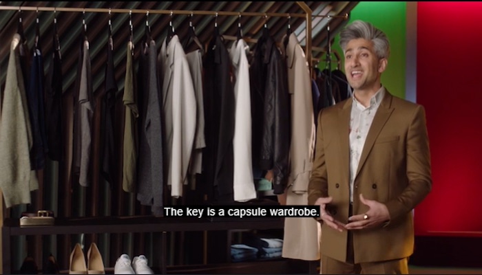 Tan France talking about capsule wardrobes