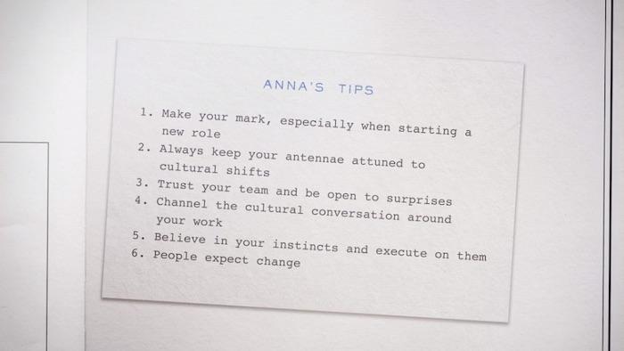 Anna Wintour MasterClass lesson summary