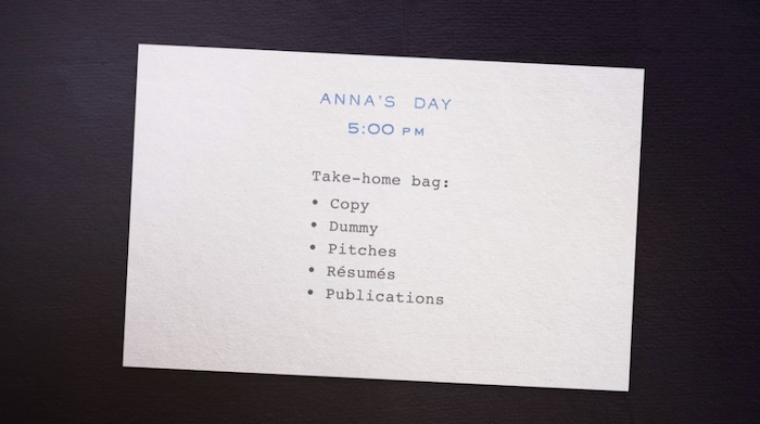 Anna Wintour going through her daily schedule in her MasterClass