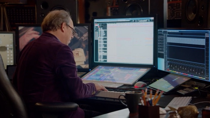Hans Zimmer composing music in his MasterClass