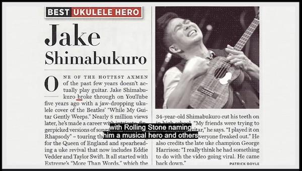 Jake Shimabukuro in the news