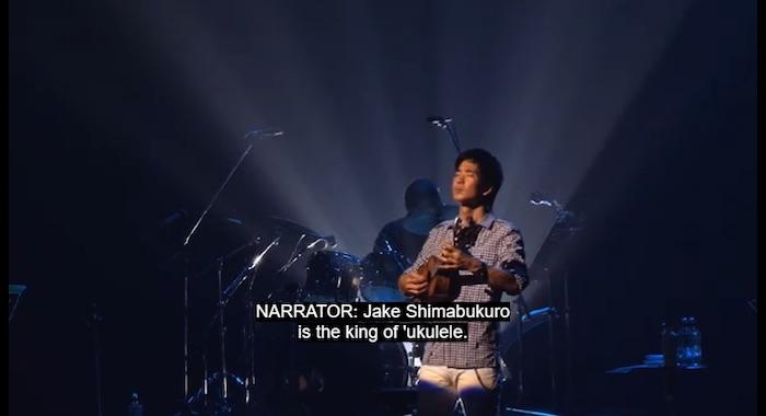 Jake Shimabukuro playing the 'Ukulele