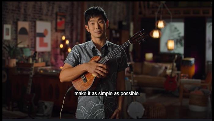 Jake Shimabukuro teaching about chords