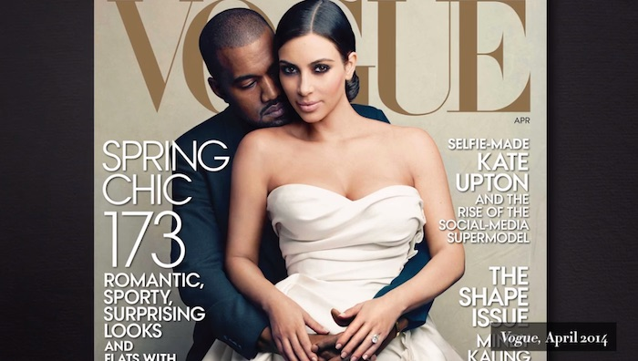 Kim and Kanye on the cover of Vogue