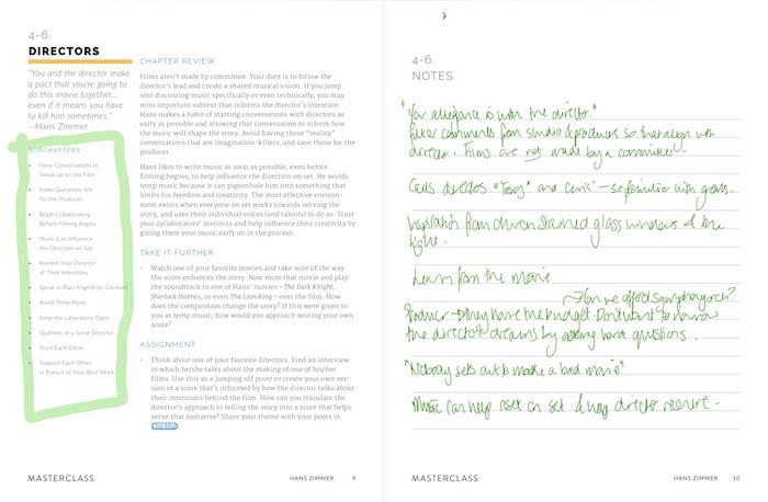 MasterClass workbook