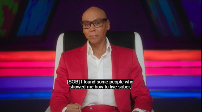 RuPaul talking about the past in his MasterClass