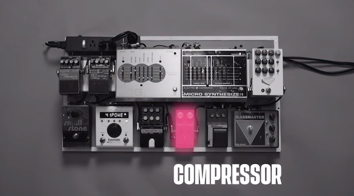St Vincent demonstrating compressors in her MasterClass