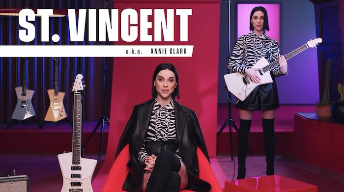 St. Vincent in her studio for her MasterClass