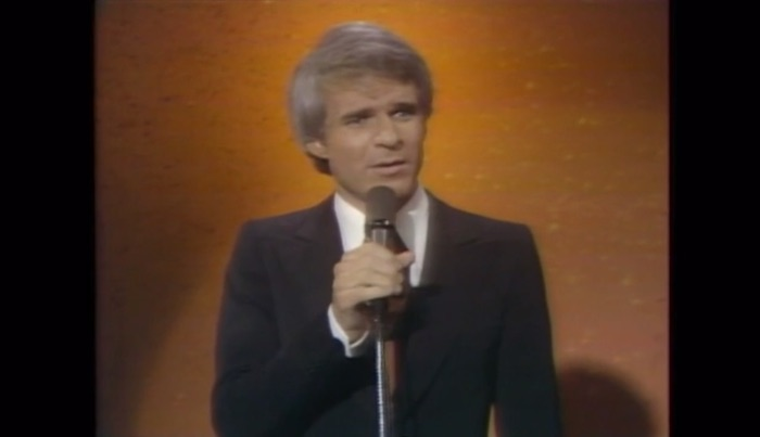 Steve Martin performing stand up comedy