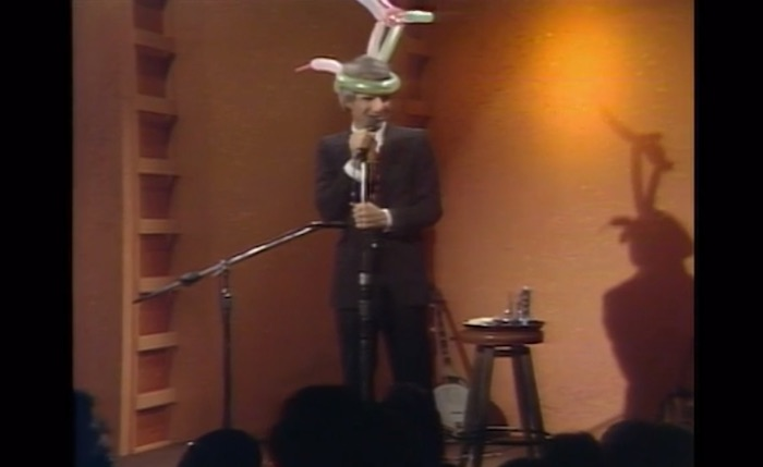 Steve Martin performing stand up