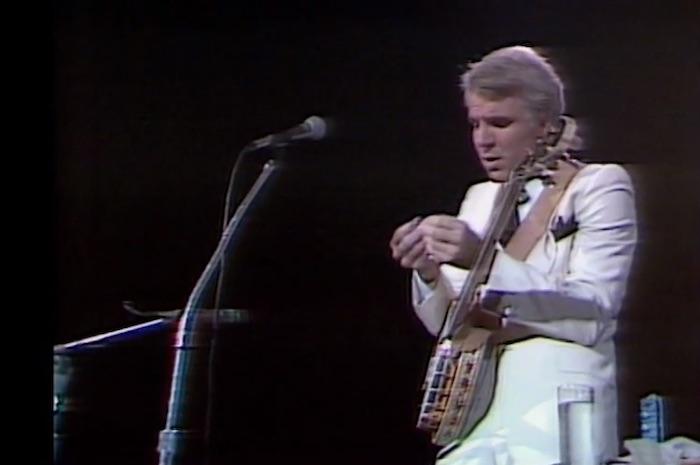 Steve Martin with a banjo